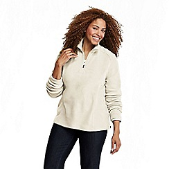 Lands' End - Cream plus polartec aircore 100 half-zip pullover