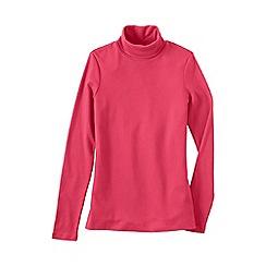 Lands' End - Pink regular shaped supima long sleeve roll neck
