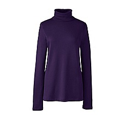 Lands' End - Purple shaped supima long sleeve roll neck