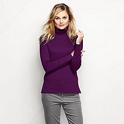 Lands' End - Purple petite supima polo neck