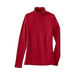 Lands' End - Red women's plus supima polo neck