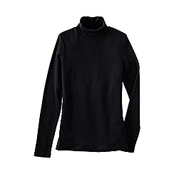 Lands' End - Black women's plus supima polo neck