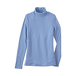 Lands' End - Blue women's plus supima polo neck