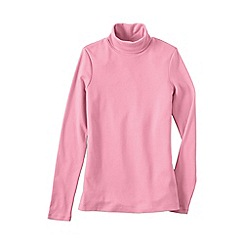 Lands' End - Pink women's plus supima polo neck