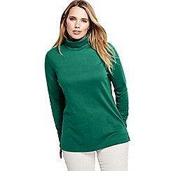 Lands' End - Green plus supima polo neck