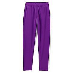 Lands' End - Girls' purple thermaskin heat midweight thermal pants