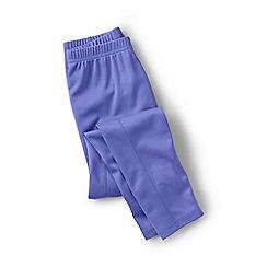 Lands' End - Purple girls' thermaskin heat midweight thermal pants
