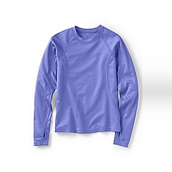 Lands' End - Purple girls' thermaskin heat midweight crew top