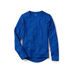 Lands' End - Boys' blue thermaskin heat midweight long sleeve crew neck