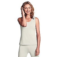 Lands' End - Cream women's regular midweight thermaskin heat vest