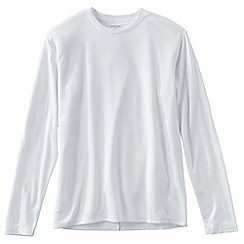 Lands' End - White regular midweight thermaskin heat crew