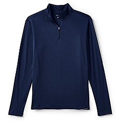 Lands' End - Blue midweight thermaskin half-zip