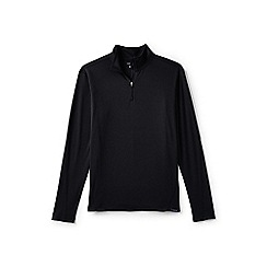 Lands' End - Black midweight thermaskin half-zip