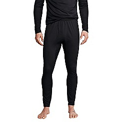 Lands' End - Black men's regular midweight thermaskin heat pants