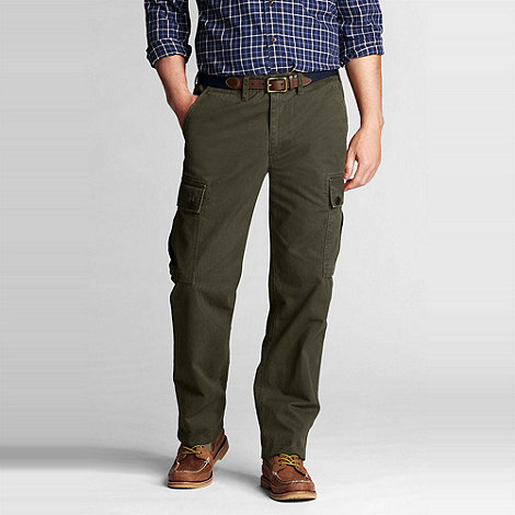 Lands+ End - Green casual cargo trousers