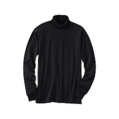 Lands' End - Black men's super tee rollneck