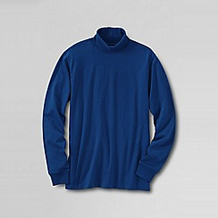 Lands' End - Blue men's super tee rollneck