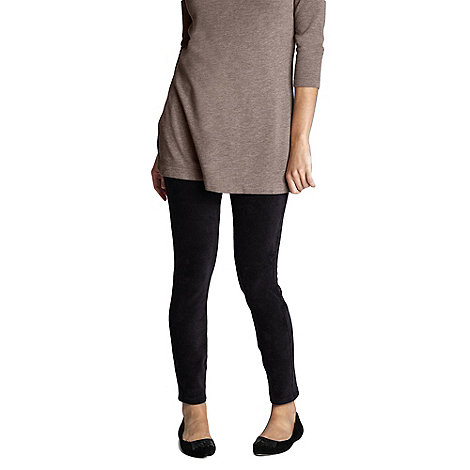 Lands+ End - Black women+s stretch knit leggings