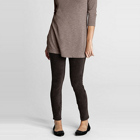 Lands+ End - Brown women+s stretch knit leggings