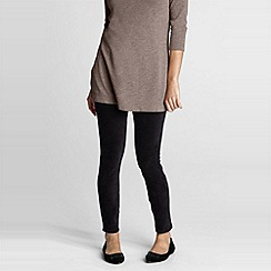 Lands' End - Black women's stretch knit leggings