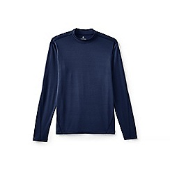 Lands' End - Blue midweight thermaskin heat polo neck
