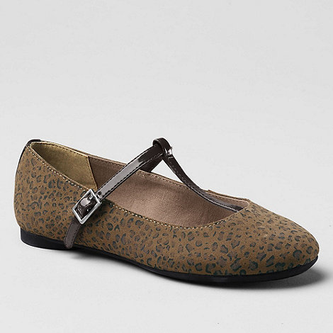 Lands+ End - Multi Kailey T-Strap Ballet Shoes