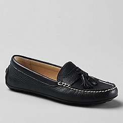 Lands' End - Black women's julia handsewn  driving moc