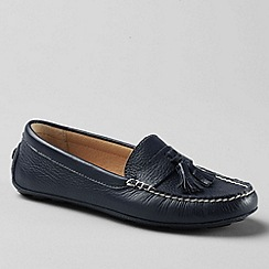 Lands' End - Blue women's julia handsewn  driving moc