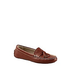Lands' End - Brown julia handsewn  driving moc
