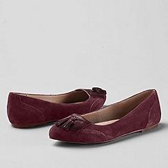 Lands' End - Purple women's greer tassel toe ballet shoes