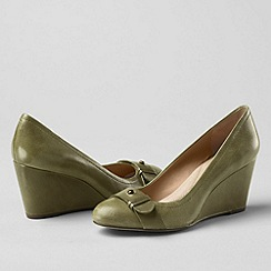 Lands' End - Green women's ellery wedge shoes