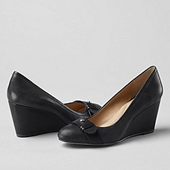 Lands' End - Black women's ellery wedge shoes