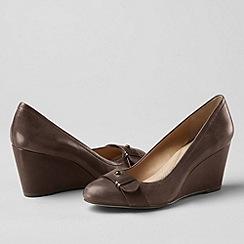 Lands' End - Brown women's ellery wedge shoes