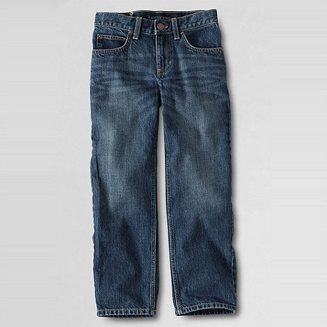 Lands+ End - Blue Little Boys+ Iron Knee Classic-Fit Jeans
