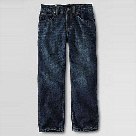 Lands+ End - Blue Little Boys+ Iron Knee Classic-Fit Jeans