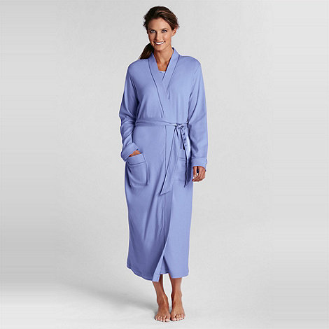 Lands+ End - Purple petite mid-calf sleep-t robe