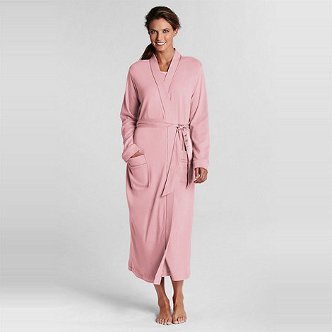 Lands+ End - Pink mid-calf sleep-t robe