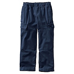 Lands' End - Blue little boys' iron knee pull-on canvas trousers