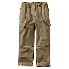 Lands' End - Beige iron knee pull-on canvas trousers