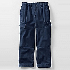 Lands' End - Blue boys' iron knee pull-on canvas trousers