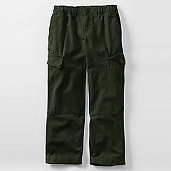 Lands' End - Green boys' iron knee pull-on canvas trousers