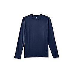 Lands' End - Blue midweight thermaskin crew neck