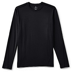 Lands' End - Black midweight thermaskin crew neck