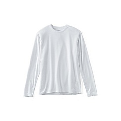 Lands' End - White midweight thermaskin crew neck