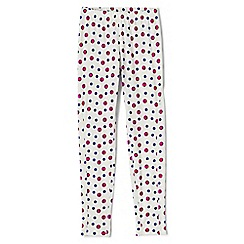 Lands' End - Cream girls' print thermaskin heat midweight thermal pants