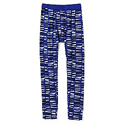 Lands' End - Blue boys' print thermaskin heat midweight thermal pants