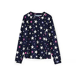 Lands' End - Girls' multicoloured print thermaskin heat midweight crew top