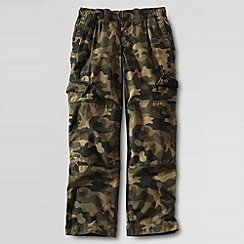 Lands' End - Boys' iron knee camouflage ripstop trousers