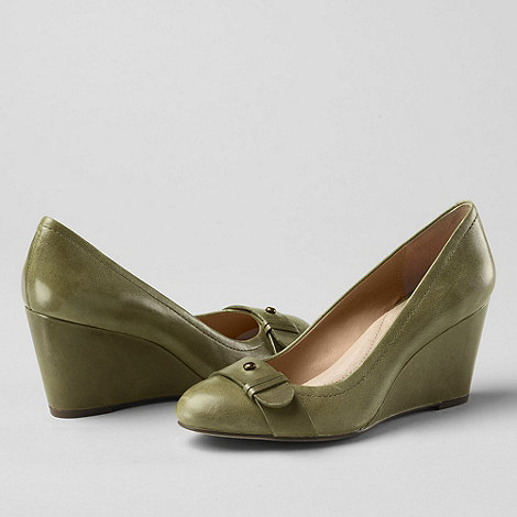Lands+ End - Green women+s ellery wedge shoes