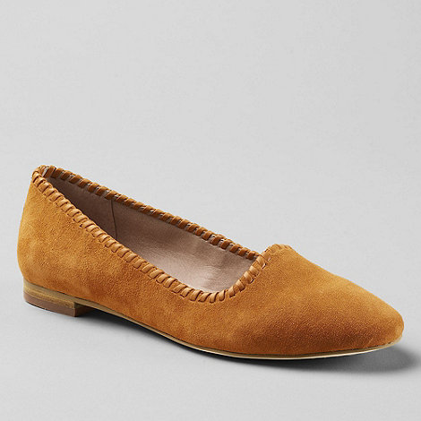 Lands+ End - Orange vanessa suede pumps